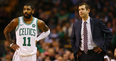 Kyrie Irving and Brad Stevens