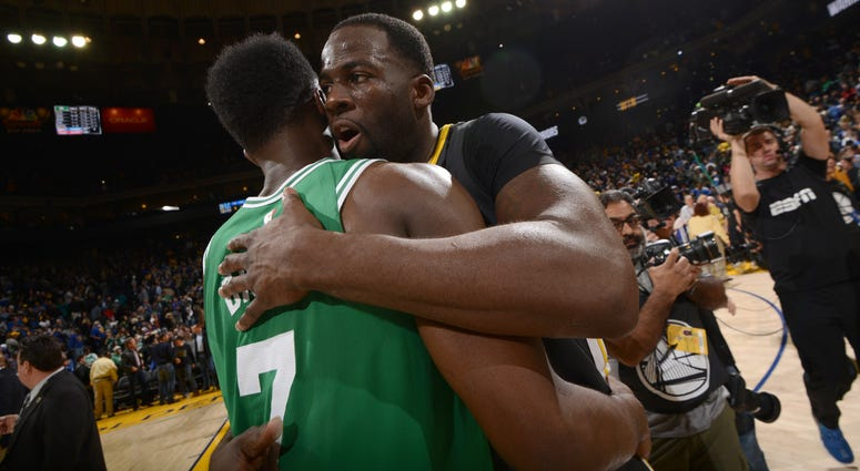 Jaylen Brown and Draymond Green
