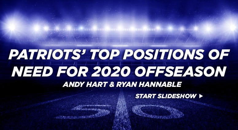 Patriots' top positions of need for 2020 offseason