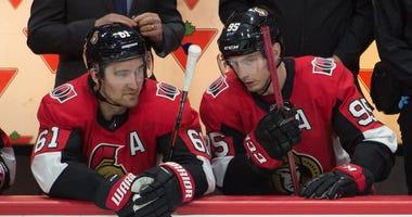 Ottawa Senators forwards Mark Stone and Matt Duchene