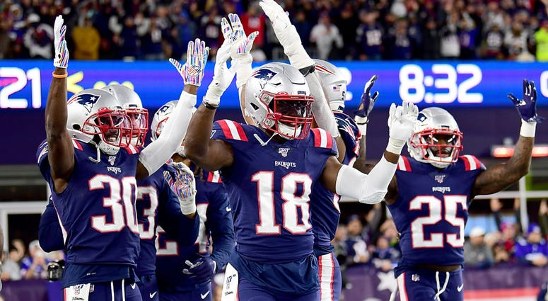 Matthew Slater and the Patriots celebrate a Kyle Van Noy touchdown