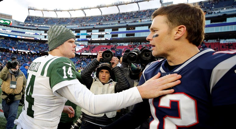 Tom Brady and Sam Darnold