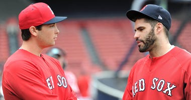 Red Sox prospect Trison Casas and Red Sox all-star J.D. Martinez
