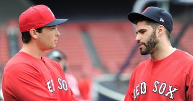 Red Sox prospect Triston Casas and designated hitter J.D. Martinez