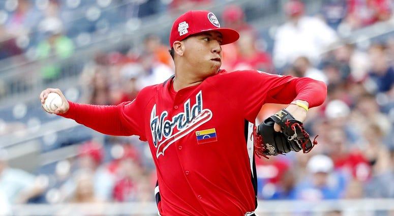 Red Sox pitching prospect Bryan Mata