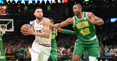 76ers guard Ben Simmons and Celtics forward Al Horford