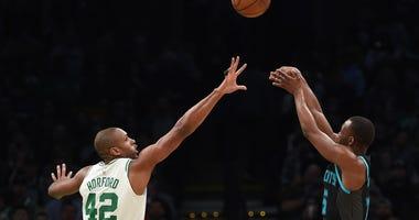 Celtics forward Al Horford and Hornets guard Kemba Walker