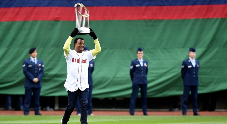 Baseball Hall of Famer and retired Red Sox pitcher Pedro Martinez