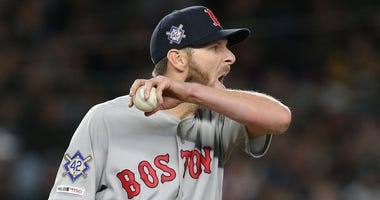 Red Sox starting pitcher Chris Sale