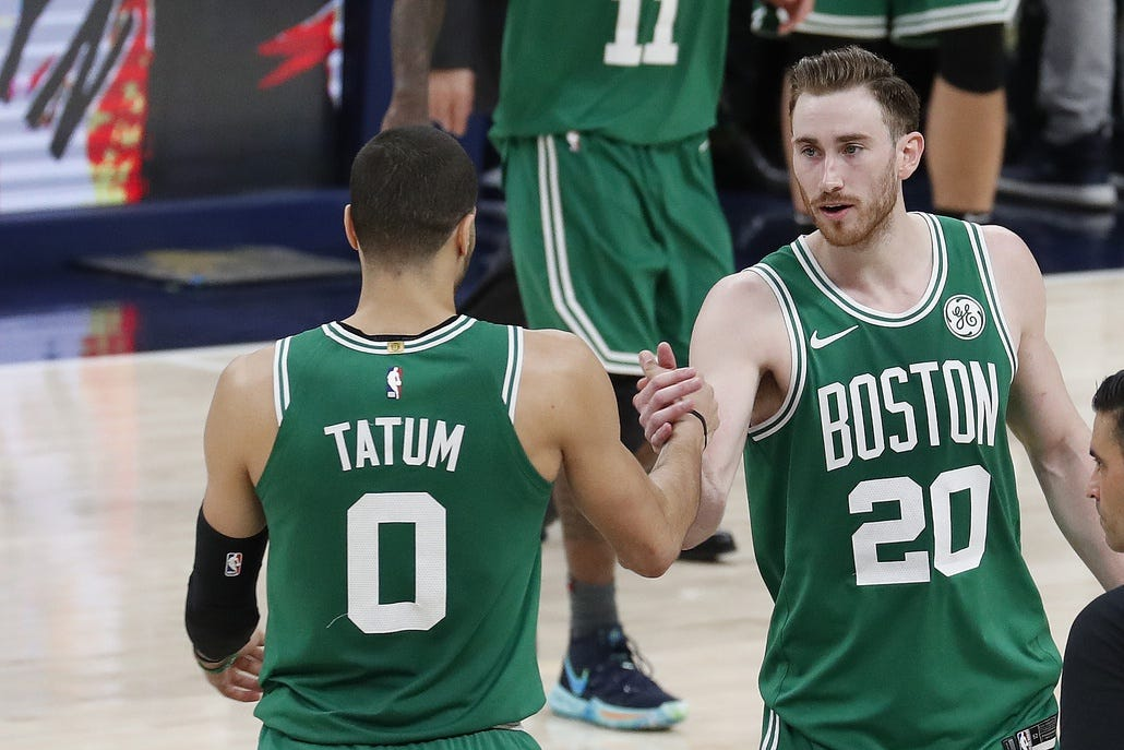Kyrie Irving, Celtics' opening night starters close out Game 3, 'We've come a long way'