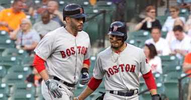 Red Sox designated outfielders JD Martinez and Mookie Betts