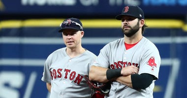 Brock Holt and Mitch Moreland