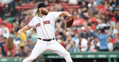 Red Sox pitcher Andrew Cashner