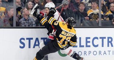 Charlie McAvoy Boston Bruins Tom Wilson Washington Capitals