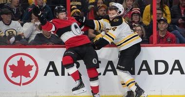 Chris Wagner Boston Bruins Ottawa Senators