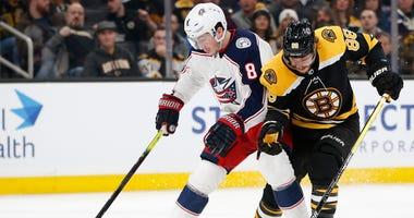 David Pastnak Boston Bruins Columbus Blue Jackets