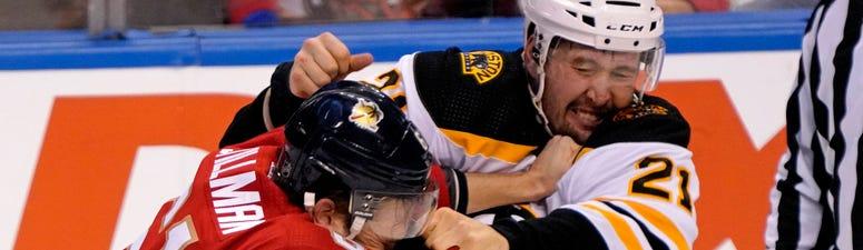 Nick Ritchie Boston Bruins Riley Stillman Florida Panthers