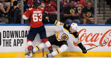 Brandon Carlo Evgenii Dadonov Boston Bruins Florida Panthers