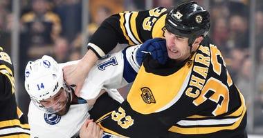 Zdeno Chara Pat Maroon Boston Bruins Tampa Bay Lightning