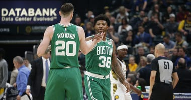 Gordon Hayward and Marcus Smart