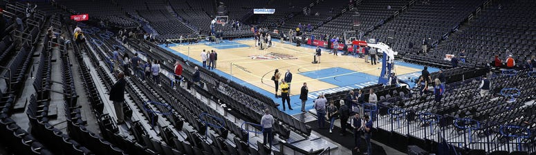 Chesapeake Energy Arena the night the NBA was put on hold
