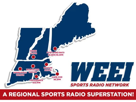 WEEI Network Map