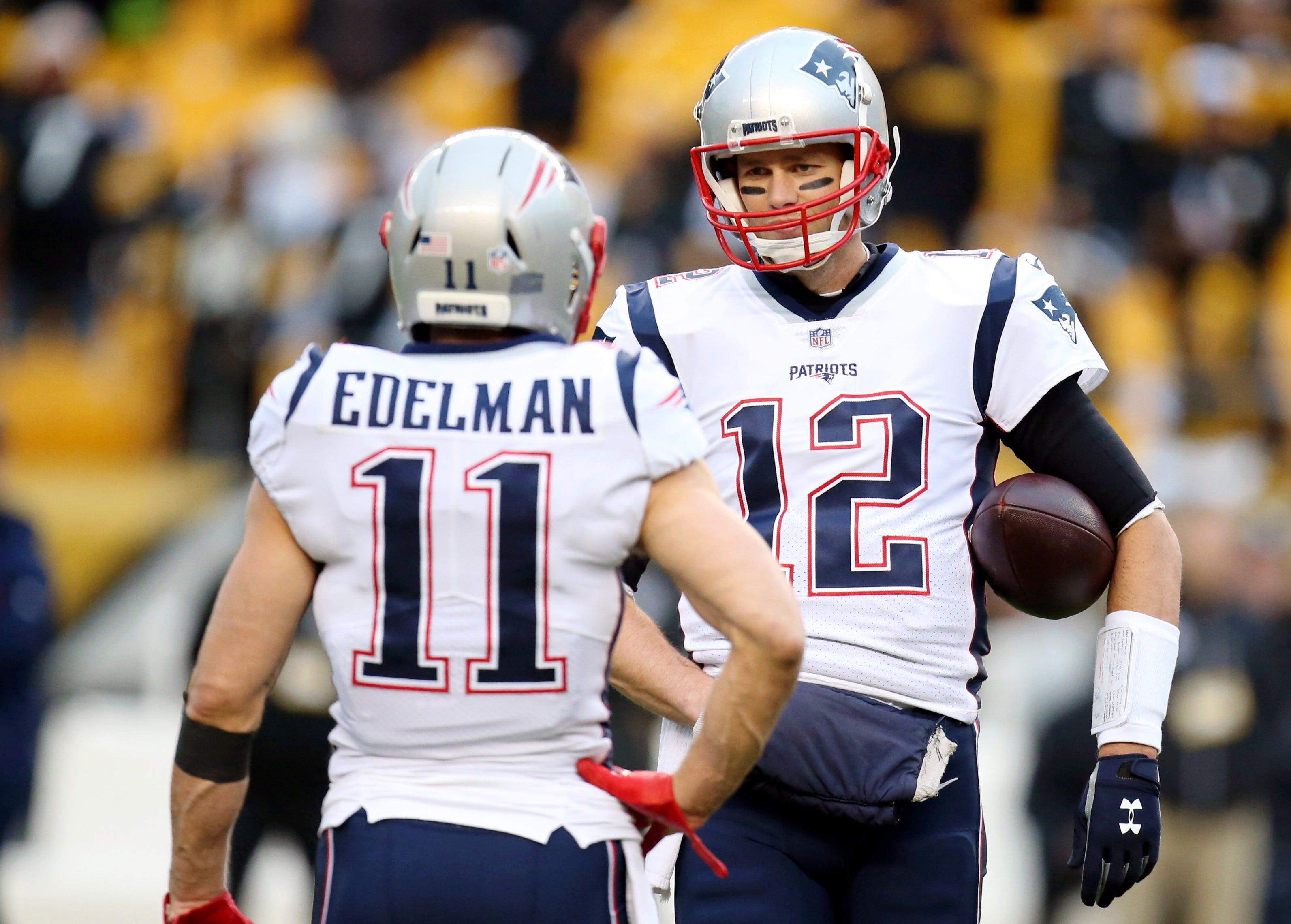 Watch: Tom Brady throws passes to Julian Edelman at Boston College