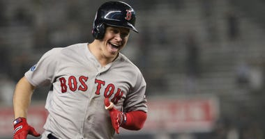 Brock Holt of the Boston Red Sox