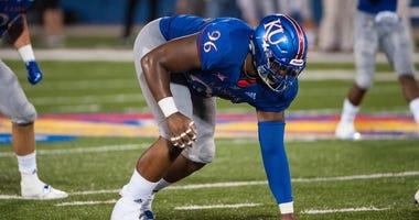 Kansas defensive tackle Daniel Wise