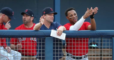 Tim Hyers and Xander Bogaerts