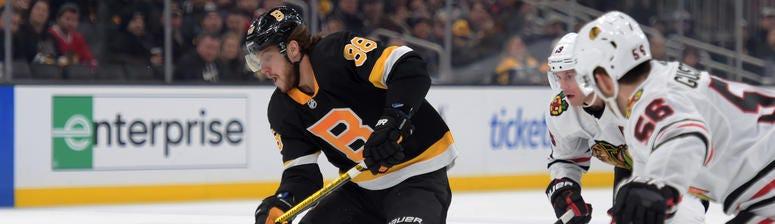 David Pastrnak Boston Bruins Chicago Blackhawks