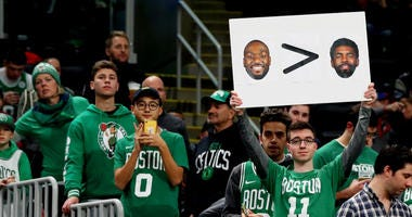Celtics fans let the Nets know how Boston feels about Kyrie Irving