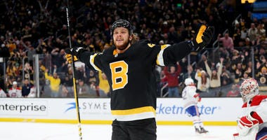 David Pastrnak Boston Bruins Montreal Canadiens