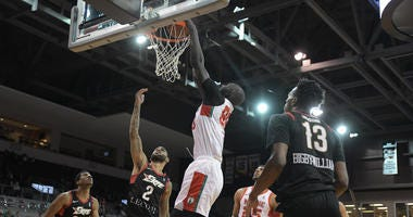 Tacko Fall throws one down for the Red Claws