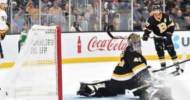 Jaroslav Halak Boston Bruins Patrice Bergeron