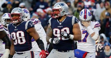 New England Patriots defensive lineman Trey Flowers