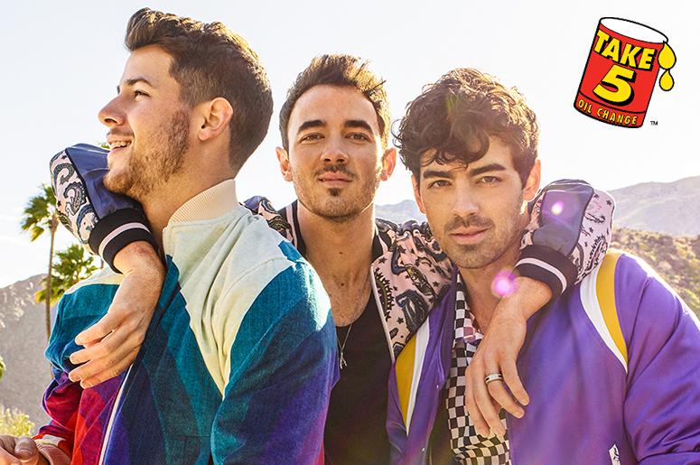 Jonas Brothers and Take 5 Oil Change