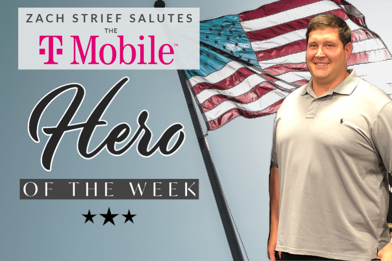 Zach Strief salutes T-Mobile Hero of the Week