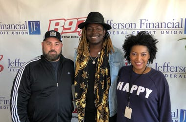 American Idol hopeful Jovin Webb with Tpot and Speedy