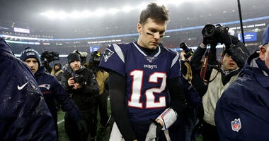 Patriots quarterback Tom Brady walks off the field after losing to the Tennessee Titans in an AFC wild-card playoff game on Jan. 4, 2020, at Gillette Stadium in Foxborough, Massachusetts.
