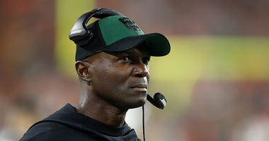 Jets head coach Todd Bowles looks on from the sidelines.