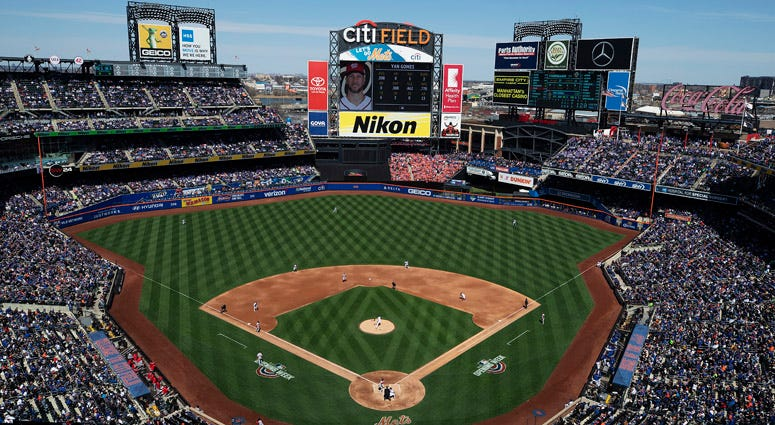 A general view of Citi Field on during the Mets' home opener on April 4, 2019.