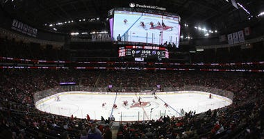 General view of Devils vs. Red Wings game at the Prudential Center on Nov. 23, 2019