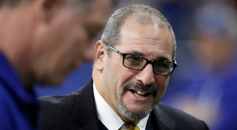 Giants general manager Dave Gettleman is seen before a game against the Indianapolis Colts on Dec. 23, 2018, at Lucas Oil Stadium in Indianapolis.