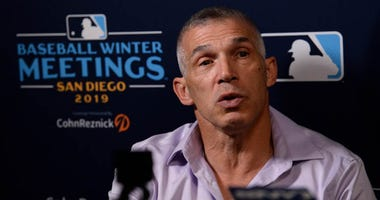 Philadelphia Phillies manager Joe Girardi speaks to the media during the MLB Winter Meetings on Dec. 9, 2019, at the Manchester Grand Hyatt in San Diego.