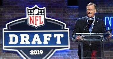 Commissioner Roger Goodell at the 2019 NFL draft in Nashville, Tennessee