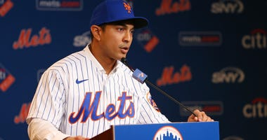 Luis Rojas speaks after being introduced as the new manager of the New York Mets at Citi Field New York, NY - January 24