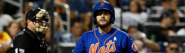 The Mets' Jed Lowrie walks back to the dugout after striking out against the Philadelphia Phillies on Sept. 7, 2019, at Citi Field.