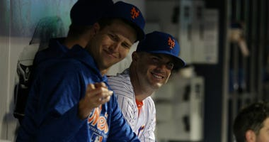 Jacob deGrom and David Wright