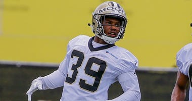Kam Moore with the Saints